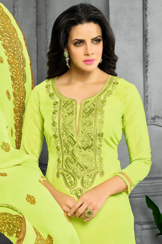 Designer Straight Cut:atisundar Superb Green Designer Party Wear Straight Cut - 13799