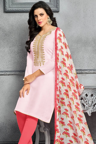 Designer Straight Cut:atisundar admirable Pink Designer Party Wear Straight Cut - 13800