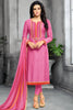 Designer Straight Cut:atisundar Smart Pink Designer Party Wear Straight Cut - 13801 - click to zoom