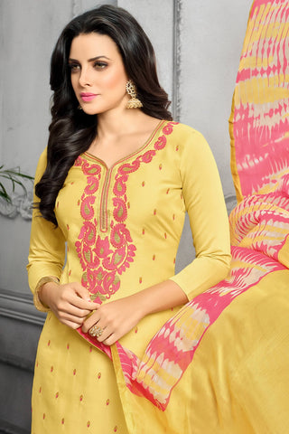 Designer Straight Cut:atisundar ravishing Yellow Designer Party Wear Straight Cut - 13802
