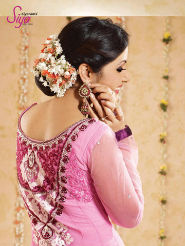 Siya Snigdha: Admirable Unstitched Embroidered Anarkali Salwar Kameez - 4132 - atisundar - 4