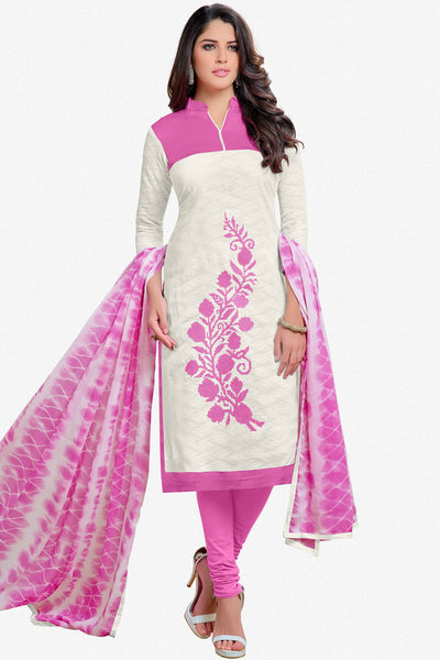 Designer Straight Cut:atisundar beauteous White Designer Party Wear Straight Cut - 13001 - click to zoom
