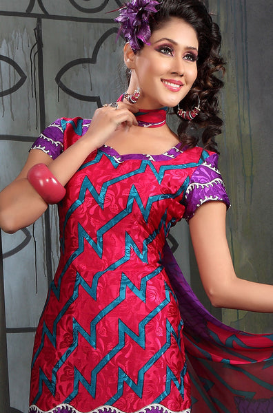 Lovely Print Purple Unstitched Salwar Kameez By atisundar - 3140 - atisundar - 4 - click to zoom
