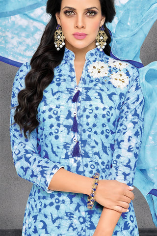 Designer Straight Cut:atisundar dazzling Blue Designer Party Wear Straight Cut - 13804