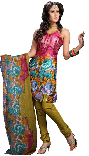 atisundar Sudeshna: Fascinating Unstitched Salwar Kameez In Pink - 3155 - atisundar - 2 - click to zoom