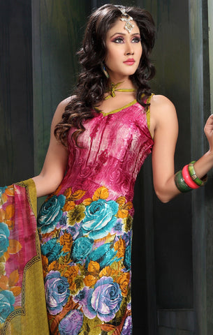 atisundar Sudeshna: Fascinating Unstitched Salwar Kameez In Pink - 3155 - atisundar - 4
