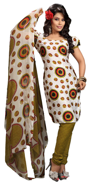 atisundar Shabab: Great Unstitched Salwar Kameez In Off-White - 3160 - atisundar - 2 - click to zoom