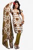 atisundar Shabab: Great Unstitched Salwar Kameez In Off-White - 3160 - click to zoom