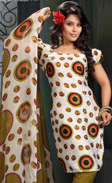 atisundar Shabab: Great Unstitched Salwar Kameez In Off-White - 3160 - atisundar - 4 - click to zoom
