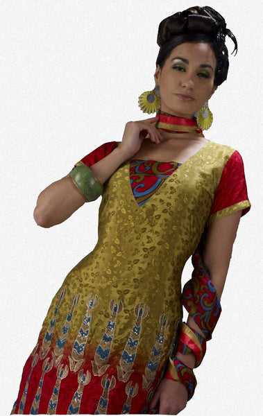 Refined Embroidery Mehndi Unstitched Salwar Kameez By atisundar - 3168 - atisundar - 1 - click to zoom