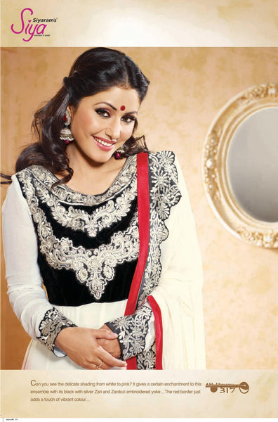 Siya Sushila: Graceful Unstitched Embroidered Anarkali Salwar Kameez - 4137 - atisundar - 4 - click to zoom
