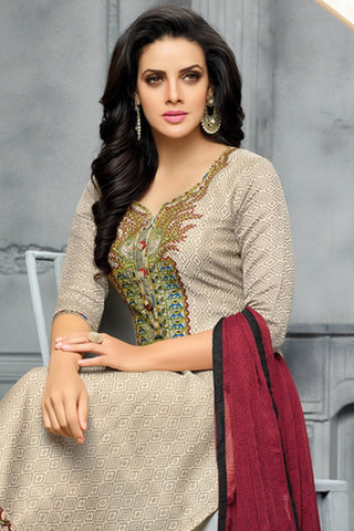 Designer Straight Cut:atisundar Awesome Grey Designer Party Wear Straight Cut - 13808