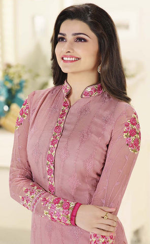 The Prachi Desai Collection:atisundar fascinating Pink Designer Straight Cut Embroidered Suits - 9512 - atisundar - 2