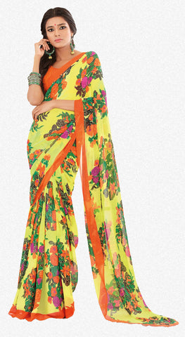 atisundar Beauteous Yellow Colored Saree - 3283 - atisundar - 2 - click to zoom
