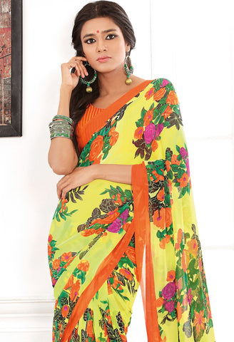 atisundar Beauteous Yellow Colored Saree - 3283 - atisundar - 4