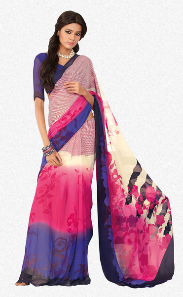 atisundar Bewitching Pink Colored Saree - 3284 - click to zoom