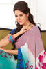 atisundar Shashi: Great Blue Colored Saree In Faux Georgette - 3297 - click to zoom