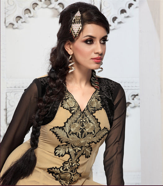 Enticing Embroidery Cream Unstitched Salwar Kameez By atisundar - 3436 - atisundar - 5 - click to zoom