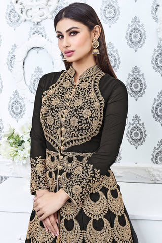 Designer Lehenga:atisundar angelic black Designer Party Wear Lehenga Featuring Mouni Roy - 12570