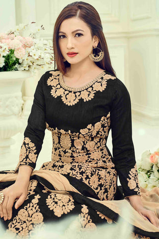 Designer Anarkali:atisundar admirable Black Designer Party Wear Anarkali - 13504