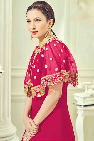 Designer Anarkali:atisundar ravishing Pink Designer Party Wear Anarkali - 13510