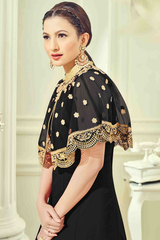 Designer Anarkali:atisundar appealing Black Designer Party Wear Anarkali - 13511
