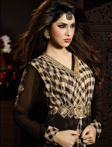 Designer Embroidered Anarkali:atisundar lovely Black Anarkali - 8174 - atisundar - 3