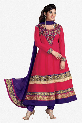atisundar Parnika: Charismatic Unstitched Salwar Kameez In Red - 3449 - atisundar - 1 - click to zoom