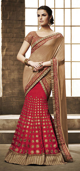 Designer Embroidered Lehenga:atisundar wonderful Gota Lehenga in Red - 8513 - atisundar - 3 - click to zoom