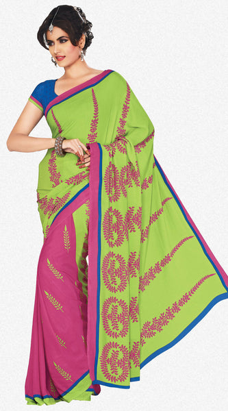 atisundar Mananya: Charismatic Pink Colored Saree In Crepe - 3472 - atisundar - 3 - click to zoom