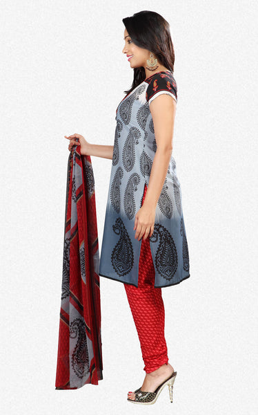 Printed Suits:atisundar gorgeous Grey Designer Printed Unstitched Suits - 6953 - atisundar - 2 - click to zoom