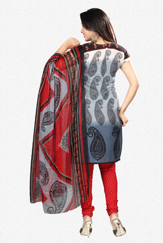 Printed Suits:atisundar gorgeous Grey Designer Printed Unstitched Suits - 6953 - atisundar - 3