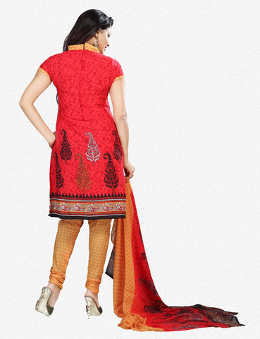 Printed Suits:atisundar admirable Red Designer Printed Unstitched Suits - 6954 - atisundar - 3