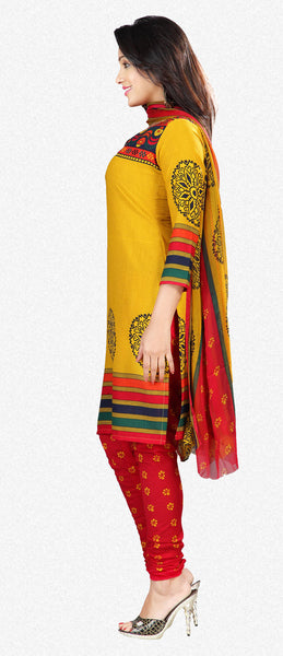 Printed Suits:atisundar beauteous Yellow Designer Printed Unstitched Suits - 6956 - atisundar - 2 - click to zoom