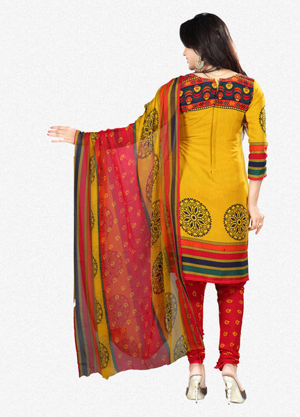 Printed Suits:atisundar beauteous Yellow Designer Printed Unstitched Suits - 6956 - atisundar - 3 - click to zoom