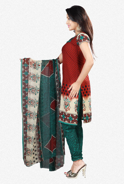 Printed Suits:atisundar appealing Brown Designer Printed Unstitched Suits - 6958 - click to zoom