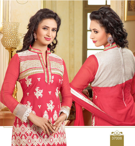 Designer Embroidered Straight Cut In Pure Cotton:atisundar fair   in Pink - 5733 - atisundar - 4 - click to zoom