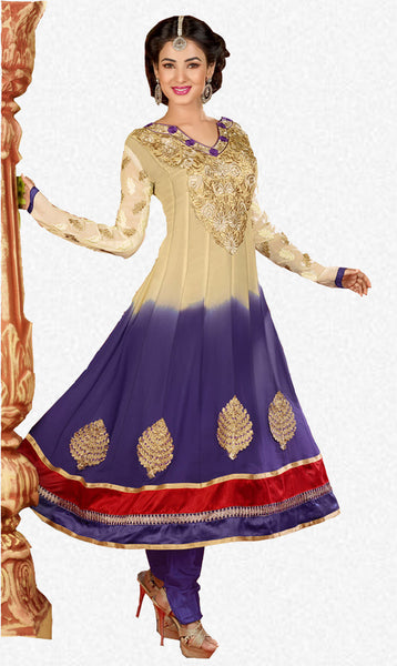 atisundar Archana: Semi stitched Anarkali In Beige - 3734 - atisundar - 1 - click to zoom
