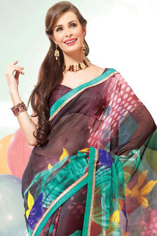 atisundar Resplendent Multi Colored Saree - 3897