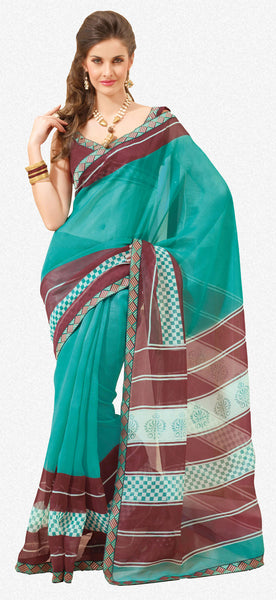 Divine Super Net Saree In Multi - 3901 - atisundar - 2 - click to zoom