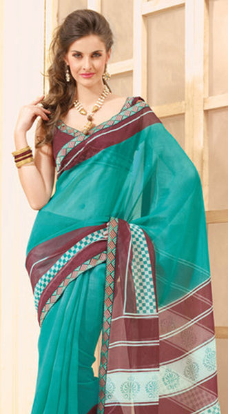 Divine Super Net Saree In Multi - 3901 - atisundar - 4 - click to zoom