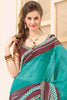 Divine Super Net Saree In Multi - 3901 - click to zoom