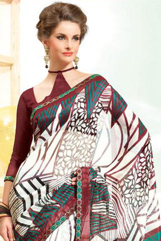 atisundar Superb Multi Colored Saree - 3910 - click to zoom