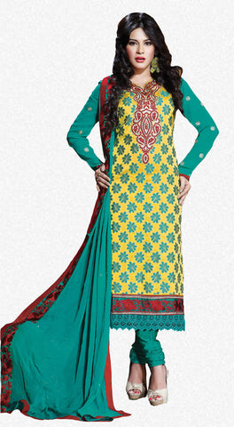 Refined Unstitched Designer Salwar Suit  - 3992 - atisundar - 1 - click to zoom