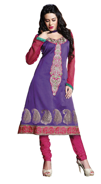 atisundar Varuna: Comely Unstitched Salwar Kameez In Purple - 3995 - atisundar - 3 - click to zoom