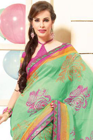 Awesome Multi Colored Print Saree - 3914 - atisundar - 5
