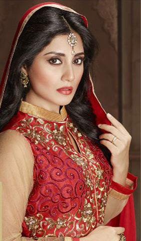 The Rimi Sen Collection:atisundar superb Red Designer Embroidered Anarkali - 8915 - atisundar - 3