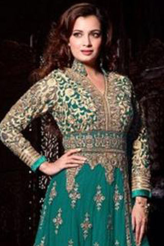 The Diya Mirza Collection:atisundar dazzling Sea Green Anarkali - 8391