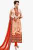 Designer Straight Cut:atisundar Smart Orange Designer Party Wear Straight Cut  - 14168 - click to zoom