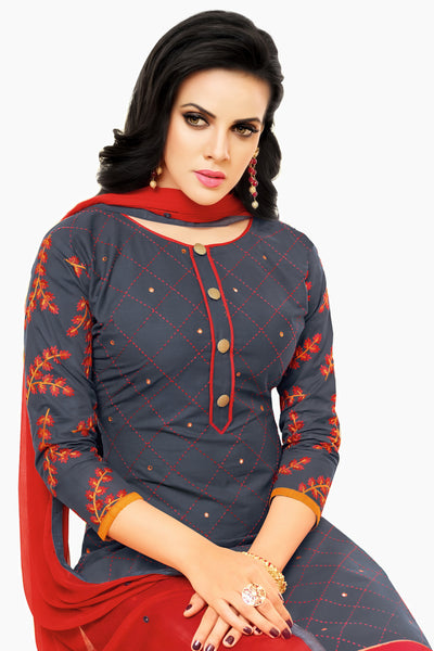 Designer Straight Cut:atisundar bewitching Gray Designer Party Wear Straight Cut  - 14372 - click to zoom